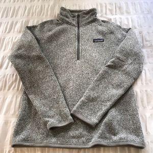 Women's Grey Patagonia Quarter Zip Sweatshirt